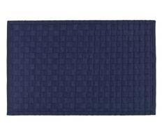 Wenko 22111100 Adria Tapis de Bain Polypropylène/Bambou/Plastique Bleu Foncé 54,5 x 8,5 x 8,5 cm