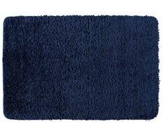 Wenko 23085100 Tapis de Bain Belize, Bleu Marine, Polyester, 60 x 90 x 3 cm