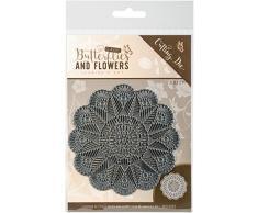 trouver Il Trading Jeanine de Art Classique Papillons et Fleurs Napperon Die, en MÉTAL, Multicolore, 15.88x 10.92x 0.08cm