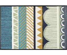 Wash + Dry Visby Paillasson lavable, Résine acrylique, multicolore, 50.0x75.0x0.7 cm
