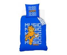 Garfield 12070045 Housse de Couette 140 x 200 cm avec Taie dOreiller 63 x 63 cm pour Enfant Coton Bleu