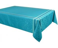 Vent Du Sud Nappe, Polyester, Turquoise, 150x250