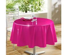 DecorLine Nappe PVC/Polypropylène/Polyester Fuchsia 160 x 160 x 160 cm