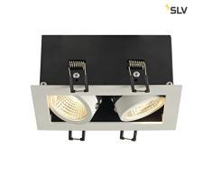 SLV Spot Encastré LED KADUX, Orientable et Inclinable | Plafonniers Variables, Eclairage Intérieur | Spots LED, Réflecteur, Projecteur de Plafond, Lampes de Plafond, Encastrés | 2 Lampes, LED Intérieure, EEC E-A++