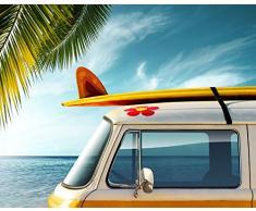 Tapis de Salle de Bain Motif Planche de SurfSuper Absorbant Polyester Multicolore 60x 40cm