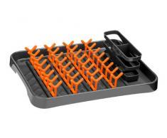 Premier Housewares 0806570 Égouttoir à Vaisselle Gris/Orange