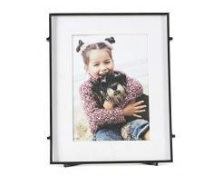 Madeleine Home Cadre Photo rectangulaire en métal Fait à la Main pour la Maison, Le Bureau, Le Salon, la Chambre à Coucher, Noir, 20 x 5 x 25 cm