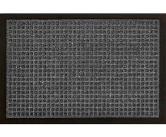 ID Mat 4060 02 Impact Carre Tapis Paillasson Fibre Polypropylène/Caoutchouc Gris 60 x 40 x 1 cm