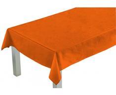 Comptoir du Linge CSI06007 Nappe Rectangulaire Tissu/Polyester/Coton/Téflon Orange 300 x 150 cm