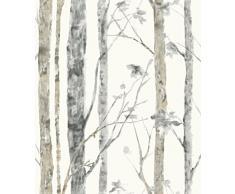 Thedecofactory RMK9047WP Papier Peint AHESIF REPOSITIONNABLE BOULEAUX Vinyle, Multicolore, 500 x 53 x 0,1 cm