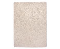 Misento 2921 Shaggy Tapis à poils longs, beige, 100 x 150 cm