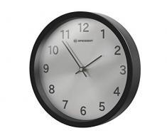 Bresser 8020314CM3000 Horloge Murale, Plastique, Noir, 25 x 25 x 4,5 cm