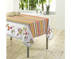 Le Jardin des Cigales Nappe Polyester Imprime 150 x 200 x 200 cm