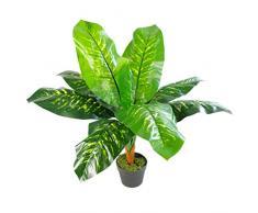 Leaf LEAF-7225 Feuille Artificielle Evergreen Plante dintérieur Pois 75 cm, 75cm Spotted