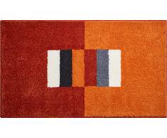 Linea Due CAPRICIO Tapis de Bain, Polyacrylique Supersoft, Orange, 80 x 150 cm