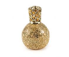 Pajoma catalytique 36096 Lampe diffuseur de parfum Or, verre/métal, hauteur H 18 cm