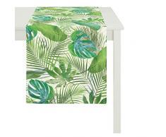 Apelt Chemin de Table, Coton, Vert, 48Â x 140Â x 0,5Â cm
