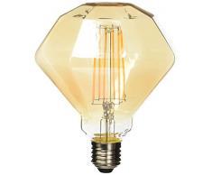 Lighted Ampoule diamant LED E27, 6 W, doré, 125 x 170 mm