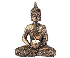 Something Different Bouddha Thaï en résine Thé Lumière Bougie Titulaire
