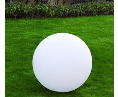 Lumisky 303122 Contemporain Boule Sphère Lumineuse avec Ampoule à Économie d'Énergie E27 Fournie Polyéthylène Epais Blanc 50 x 50 x 50 cm