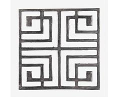 Better & Best Dessous de plat carré en métal, décoré de carreaux, couleur noir irrégulier, dimensions 21 x 21 x 2 cm