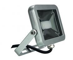 Perel LEDA4001WW-SG Projecteur LED Design, Aluminium, 10 W, Blanc