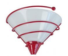 Tosel 30789 Applique Spiralito Acier/Verre 100 W E27 Rouge