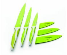 Ibili 727612 Couteau de Cuisine Antiadhésive Acier Inoxydable Vert 12,50 cm