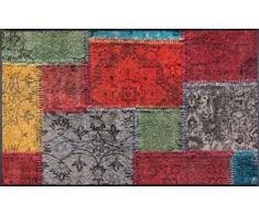 Wash+Dry Vintage Patches Tapis, Surface en Polyamide, Coloré, 75/120