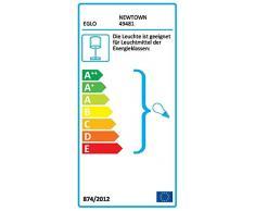 Eglo 49481 Lampe de table, Différents matériaux, Argent
