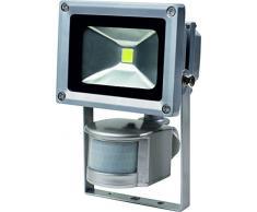 as-Schwabe 46977 Spot LED alimenté par énergie solaire Avec détecteur de mouvement Convient en extérieur ou sur un chantier 10 W