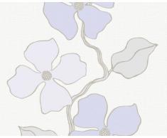 Esprit 1409-13 Papier Peint, Fleurs vrillées, Blanc Gris Lilas, Design City Glam (Import Allemagne)
