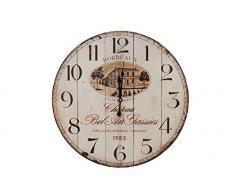 Sukima Decor Chateau Horloge Murale, MDF, Beige, 58Â x 4Â x 58Â cm