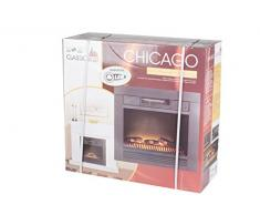 Classic Fire Chicago - Poêle électrique Encastrable Imitation Feu de Bois - 1800W