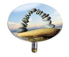 Wenko 21846100 Pluggy Bouchon de Baignoire Stone Forma Multicolore Taille XXL 7,5 x 7,5 x 5,5 cm