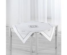 Couleur Montagne Nappe carrée, Polyester, Blanc, 85x85 cm