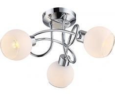 Globo 56963-3 Siony Plafonnier à LED GU10 Chromé