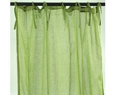 Thedecofactory Romantica Rideau, Polyester, Vert, 105 x 250 x 3 cm