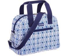 Kitchencraft WE Love Summer Tile-Patterned Tenue All-Style Sac Isotherme, Tissu, Bleu, 15Â x 32Â x 25Â cm
