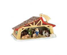 Villeroy & Boch - Christmas Toys Memory Crèche, Crèche Décorative à Placer sous le Sapin de Noël, Porcelaine Dure, Multicolore, 27 x 16 x 16cm