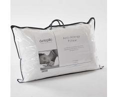 Dunlopillo Oreiller en Latex recouvert de Fibre de hypoallergénique, Blanc
