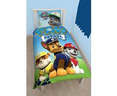 Character World 00001369 La PatPatrouille Housse de Couette 140 x 200 cm + Taie doreiller 60 x 70 cm Coton Bleu