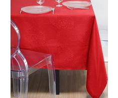 LOVELY CASA N117087005 Totema Nappe Coton Rouge 140 x 240 cm