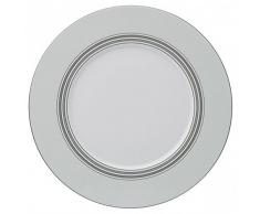 Guy Degrenne 211865 Exquise Esquisse Lot de 3 Assiettes de Présentation Porcelaine Gris 32,5 x 32,5 x 1,93 cm