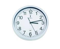 Kela 11258 Bilbao Horloge Radio-Pilotée Polystyrène Blanc 25 x 25 x 4 cm