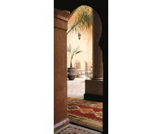 Plage 141042 Sticker Trompe lœil Porte - Marrakech, 204 x 83 cm