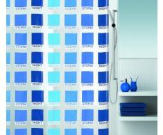 Spirella 10.15208 Rideau de Douche Cubist Blue Vinyl 180 x 200 cm