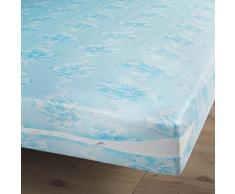 Douceur dIntérieur Rénove Matelas Polyester Maille Extensible Bleu 200 x 160 x 200 cm