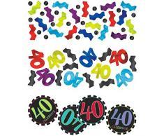 Amscan 40e Anniversaire confettis Lot de 3