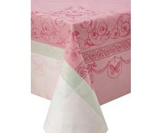 Garnier-Thiebaut EUGENIE Nappe Antitache, Coton, Rose, 174 x 364 cm